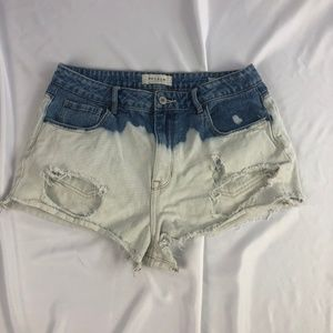 PacSun distressed bleached high-rise short